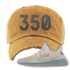 Yeezy Boost 350 V2 Israfil Distressed Dad Hat | Timber, 350