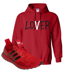 Ultra Boost 1.0 Nebraska Hoodie | Lover, Red
