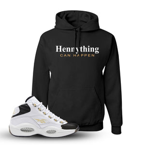 Question Mid Black Toe Sneaker White Pullover Hoodie | Hoodie to match Reebok Question Mid Black Toe Shoes | Hennything Can Happen