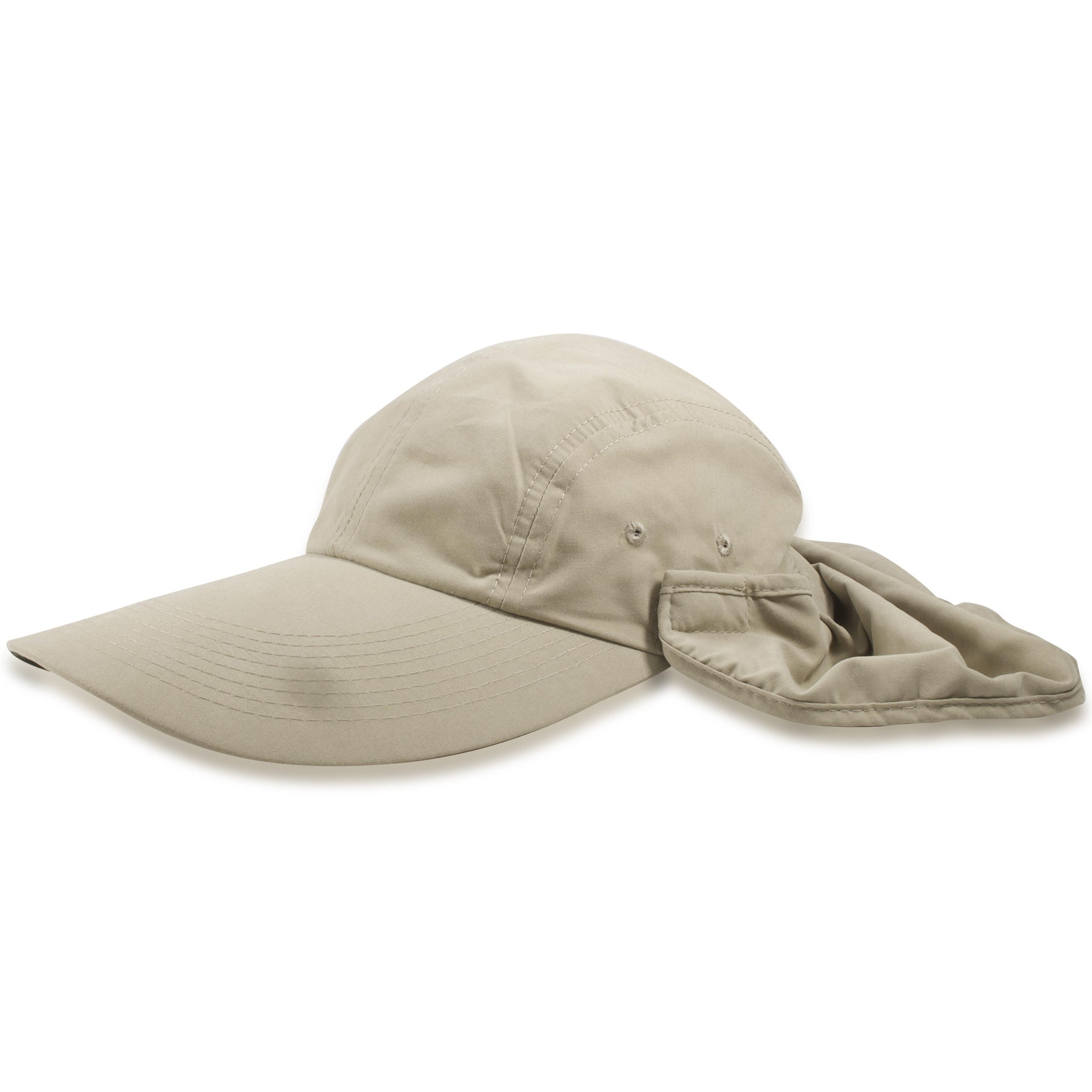 fd709f644b166 ... Dorfman Pacific Khaki Big Brim Fishing Hat with Removable Neck Flap ...