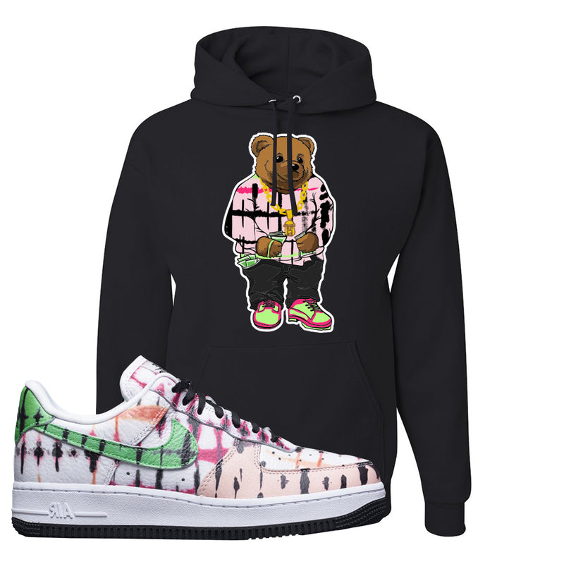 Air Force 1 Low Multi-Colored Tie-Dye Hoodie | Black, Sweater Bear