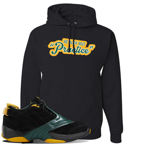 Answer 5 Bethel High Sneaker Black Pullover Hoodie | Hoodie to match Reebok Answer 5 Bethel High Shoes | Talkin Bout Practice