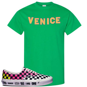 Vans Era Venice Beach Pack T Shirt | Irish, Venice Sign