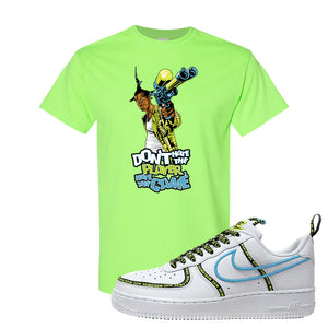 Air Force 1 '07 PRM 'Worldwide Pack' T Shirt | Neon Green, Don't Hate The Playa