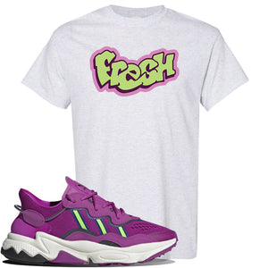 Ozweego Vivid Pink Sneaker Ash T Shirt | Tees to match Adidas Ozweego Vivid Pink Shoes | Fresh