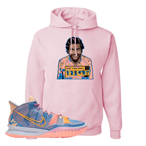 Kyrie 7 Expressions Hoodie | Escobar Illustration, Light Pink