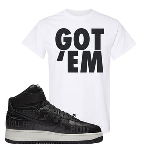 Air Force 1 High Hotline T Shirt | Got Em, White