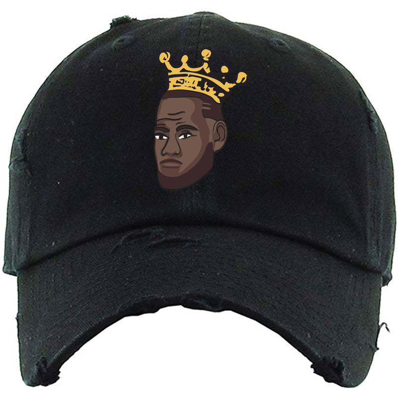 On the front of the King James dad hat is the Labron logo