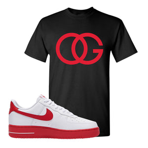 Air Force 1 Low Red Bottoms T Shirt | Black, OG