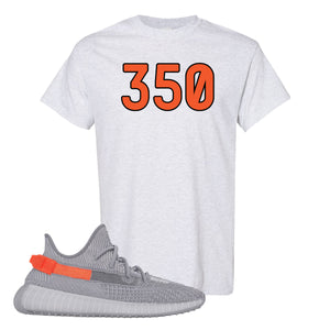 Yeezy Boost 350 V2 Tail Light Sneaker Oxford T Shirt | Tees to match Adidas Yeezy Boost 350 V2 Tail Light Shoes | 350