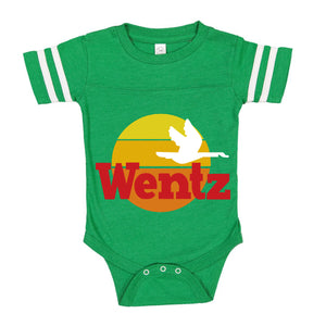BROAD & MARKET | PHILADELPHIA | WENTZ WAWA | INFANT JERSEY BODY SUIT | VINTAGE GREEN WHITE