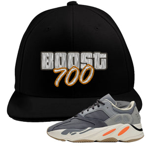 Yeezy Boost 700 Magnet GTA Cover Lettering Black Snapback Hat