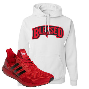 Ultra Boost 1.0 Nebraska Hoodie | Blessed Arch, White