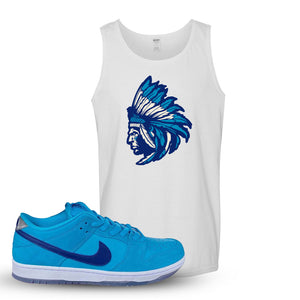 SB Dunk Low Blue Fury Tank Top | White, Indian Chief