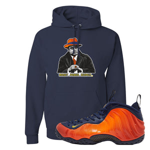 Foamposite One OKC Hoodie | Navy Blue, Capone Illustration