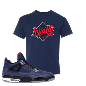 Jordan 4 WNTR Loyal Blue Loyalty Navy Sneaker Hook Up Kid's T-Shirt