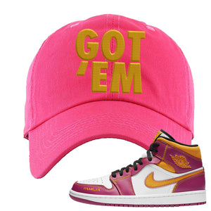 Air Jordan 1 Mid Familia Dad Hat | Got Em, Hot Pink