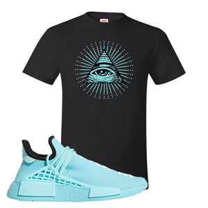 Pharell x NMD Hu Aqua T Shirt | All Seeing Eye, Black