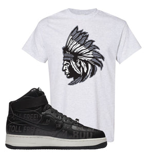 Air Force 1 High Hotline T Shirt | Indian Chief, Ash