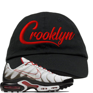 Nike Air Max Plus White University Red Sneaker Hook Up Crooklyn Black Dad Hat