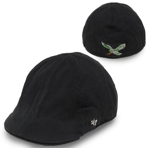 Eagles Jeff Cap  Throwback Logo Black kelly green  Philadelphia eagles  Driver Jeff Cap