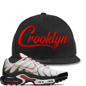 Nike Air Max Plus White University Red Sneaker Hook Up Crooklyn Black Snapback