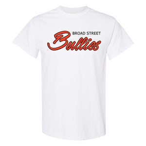 Broad Street Bullies T-Shirt | Broad Street Bullies White T-Shirt the front of this t-shirt has the bullies script