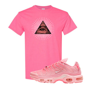 Air Max Plus Atlanta City Special T Shirt | All Seeing Eye, Safety Pink