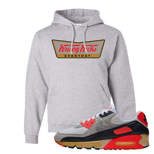 Air Max 90 Infrared Hoodie | Krispy Kicks, Ash
