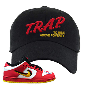 Nike Dunk Low Vietnam 25th Anniversary Dad Hat | Trap To Rise Above Poverty, Black