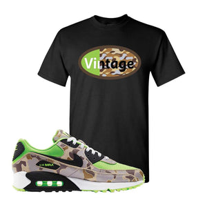 Air Max 90 Duck Camo Ghost Green T Shirt | Black, Vintage Oval