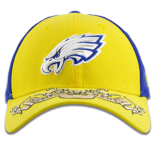 Philadelphia Eagles 2019 NFL Draft State Flag Color Blue/Yellow 39Thirty Flexfit Cap