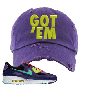 Air Max 90 Cheetah Distressed Dad Hat | Got Em, Purple