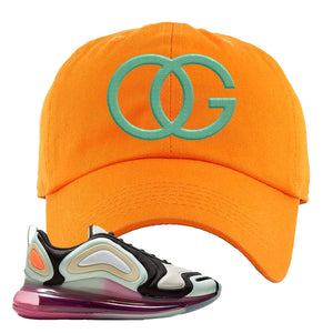 Air Max 720 WMNS Black Fossil Sneaker Orange Dad Hat | Hat to match Nike Air Max 720 WMNS Black Fossil Shoes | OG