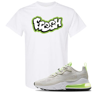 Air Max 270 React Ghost Green Sneaker White T Shirt | Tees to match Nike Air Max 270 React Ghost Green Shoes | Fresh