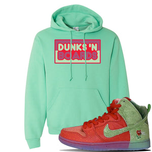 SB Dunk High 'Strawberry Cough' Hoodie | Cool Mint, Dunks N Boards