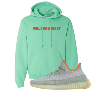 Yeezy 350 V2 Desert Sage Hoodie | Cool Mint, Welcome West