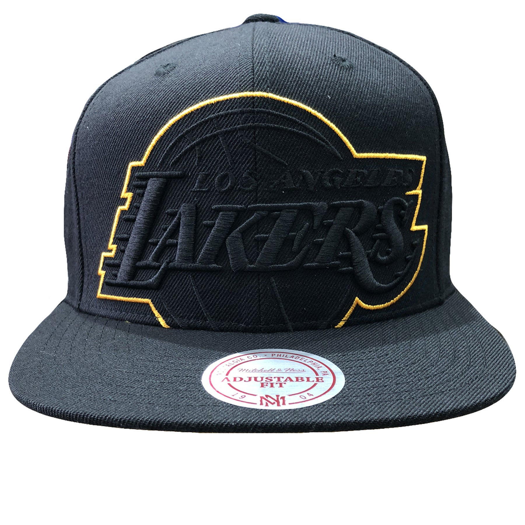 face4325093 Embroidered on the front of the Los Angeles Lakers XL logo snapback hat is  the Lakers
