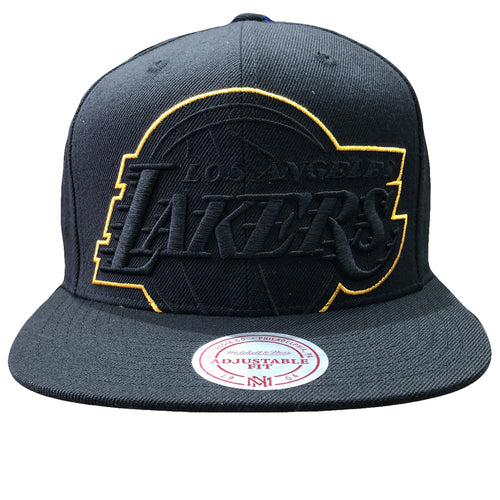 1387e2b0 Embroidered on the front of the Los Angeles Lakers XL logo snapback hat is  the Lakers