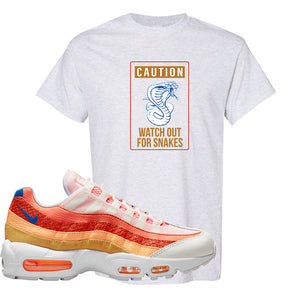 Air Max 95 Orange Snakeskin T Shirt | Caution Snakes, Ash