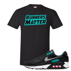 Air Max 90 Black New Green T Shirt | Runners Matter, Black