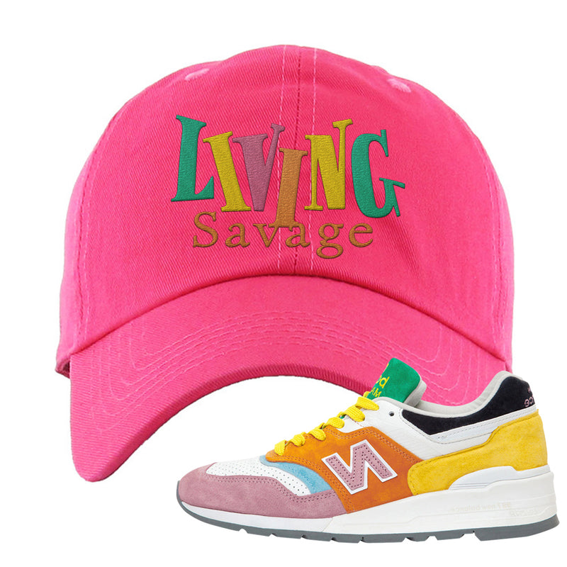 New Balance 997 Multi-Color Dad Hat | Living Savage, Pink