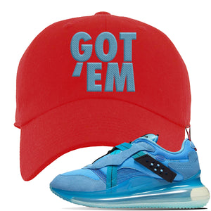 Air Max 720 OBJ Slip Light Blue Dad Hat | Red, Got Em