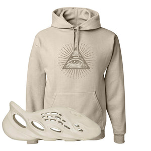 Yeezy Foam Runner Sand Hoodie | All Seeing Eye, Sand