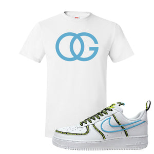 Air Force 1 '07 PRM 'Worldwide Pack' T Shirt | White, OG