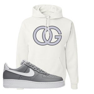 Air Force 1 Low Wolf Grey White Hoodie | White, OG