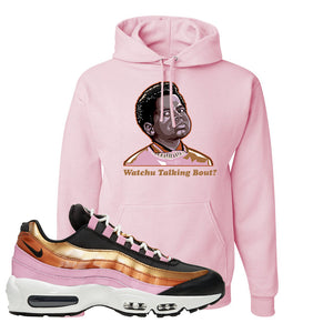 Air Max 95 WMNS Copper and Gold Pullover Hoodie | Watchu Talkin Bout, Classic Pink