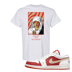 Air Jordan 1 Low Spades T Shirt | God Told Me, Ash