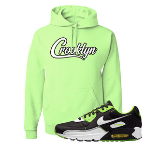 Air Max 90 Exeter Edition Black Hoodie | Crooklyn, Neon Green