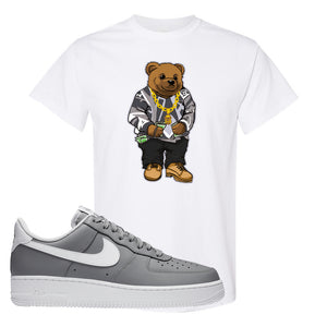 Air Force 1 Low Wolf Grey White T Shirt | White, Sweater Bear